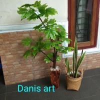Pohon bonsai maple/ Pohon Palsu/ Bonsai plastik/ Daun maple
