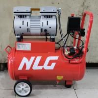 NLG kompresor silent oilless compressor 1HP tank 24lt OC 1124 8bar