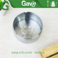 Conalli Asbak Anti Angin Ash Tray Motif Tengkorak Medium Stainless