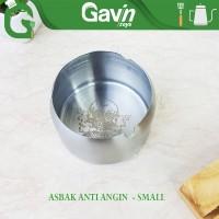 Asbak Anti Angin Conalli Ash Tray Motif Tengkorak Small Stainless