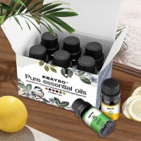 Kbaybo Pure Essential Fragrance Oils Aromatherapy Diffusers 10ml 6PCS