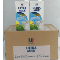 susu tawar ultra low fat 1000ml 1 karton isi 12 pcs