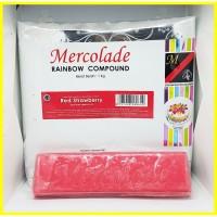 REPACK MERCOLADE COKELAT BATANG COMPOUND RED STRAWBERRY
