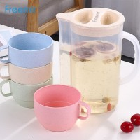 Freemir Teko jus air teh kopi wadah plastik dengan 4 cangkir