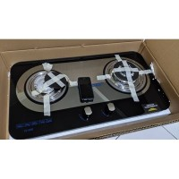 Kompor Gas Tanam Glass 2 Tungku - W888 W 888 W888