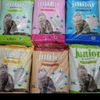 pasir kucing wangi junior 25liter paket 3 karung - khusus gojek