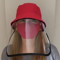 Topi Anti Corona Fashion Boy- Topi Anti Virus - Topi Antibacterial - Merah