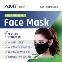 Masker Kain Premium AMI HEALTH 3 Plies Protection Earloop Original