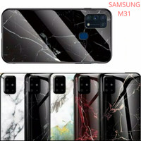 CASE SAMSUNG Galaxy M31 2020 Tempered Glass Soft Silicone Frame Hard