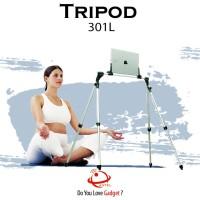 TRIPOD 301L Aluminium Stand Holder Tripod Ipad Tablet Smartphone 12,9