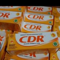 suplemen Daya Tahan Tubuh CDR kalsium vit D C B6 Rasa Jeruk 10 Tablet
