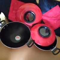 Penggorengan set crystal pan maslon ukuran 27,23cm Maspion