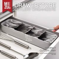 CUILLERE Kitchen Drawer Cutlery Organizer Tray Rak Sekat Sendok Garpu - Putih