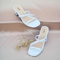LEXI PAULA Heels Sepatu Wanita Warna White Putih