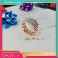 Cincin Emas AYUGOLD Collection Ring Rose Gold. 02