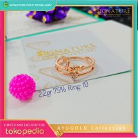Cincin Emas AYUGOLD Collection Ring Rose Gold. 1043