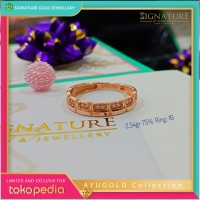 Cincin Emas AYUGOLD Collection Ring Rose Gold. 1042