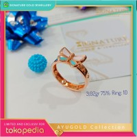 Cincin Emas AYUGOLD Collection Ring Rose Gold. 818
