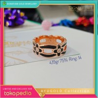 Cincin Emas AYUGOLD Collection Ring Rose Gold. 063