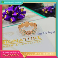 Cincin Emas AYUGOLD Collection Ring Rose Gold. 821
