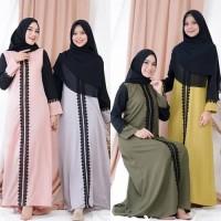 Gamis Trendy Modern Terbaru Sekar Dress Bahan Moscrepe Mix Renda Impor
