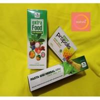 PROMO PAKET 4 / EXTRA FOOD HPAI / PASTA GIGI / SABUN MANDI PROPOLIS