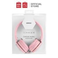 MINISO Hm001 Headphones Di Telinga, Pink/Blue/Black