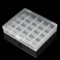 25 Grids Empty Clear Bobbin Box Case Spool Sewing Tool Storage