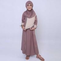 Baju Gamis Busana Muslim Anak Perempuan Cewek Warna Coklat CBV 047 CR