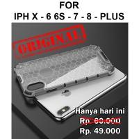 Honeycomb case iPhone X - 6 6s - 7 - 8 Plus casing hp cover fuze armor - iPh X