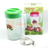 Nikita 2000 2L 2 Liter Teko Listrik Plastik Pemanas Air Electric Mug