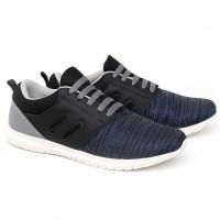 Sepatu Sneakers Anak Laki-Laki Cowok Casual Tali Hitam Komb CAN 007 CR