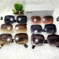 Terlaris Best Seller Kacamata Fashion Sunglass Wanita Miu Miu Gliter