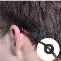 Ear hook kacamata silicone ring bulat penahan kacamata
