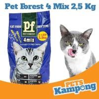 Makanan kucing dewasa kering Pet Forest 4 MIX 2,5 kg