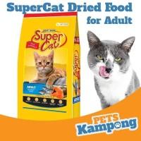 Makanan kucing dewasa kering Supercat Adult 20lbs 9kg