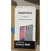 Samsung M20 Tempered Case Anti Gores Screen Guard Casing Silikon