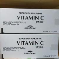 Vitamin C 50mg Kimia Farma KF per Box isi 10 Strip 100 Tablet