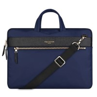 Tas Laptop / Macbook Sleeve Selempang Cartinoe London 11 12 inch NAVY