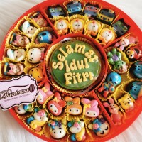 candy tray - coklat aneka karakter kartun ucapan selamat idul fitri