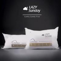 Paket 1 Bantal + 1 Guling Microfiber Bulu Angsa LAZY Sunday