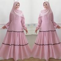 Baju Muslim Syari baju basic dress cerutty doby renda ( gamis only )