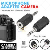 Microphone Adapter Mirrorless Fujifilm Converter Mic Fuji 2.5mm