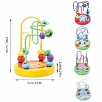 Mainan Edukasi Alat Hitung Lingkar Manik Karakter Anak