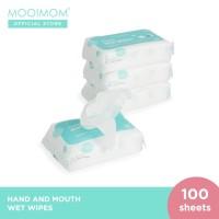 MOOIMOM Wet Wipes (5 Pack isi 100 Lembar)