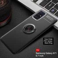 Calandiva Samsung A71 Soft Case Casing Ultimate Ring Kickstand