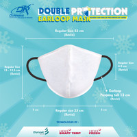 Masker Kain Anti Virus DK DOUBLE PROTECTION EARLOOP MASK - isi 3 pcs