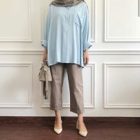 Marion top by Fixpose blue / white / grey