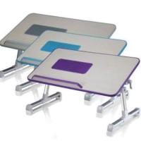 meja laptop kayu aluminium kipas laptop
