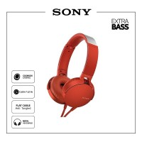 Sony Extrabass Headphone MDR - XB550AP/R - Red